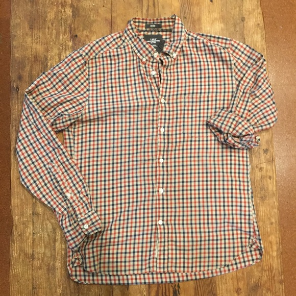 1731d3062f6a H&M Shirts | Hm Logg Button Down Plaid Mens Shirt Sz M | Poshmark